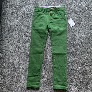 Boys size 7Y Mini Boden SLIM green jeans